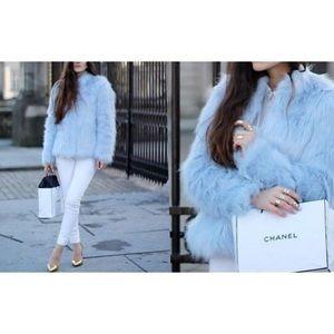 Zara Pull & Bear Faux Fur Jacket Sz L